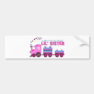 Pink Train - Lil' Sister Bumper Sticker