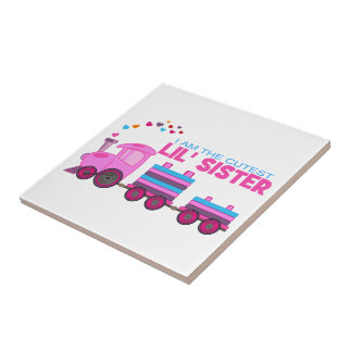 Pink Train - Lil' Sister Tiles