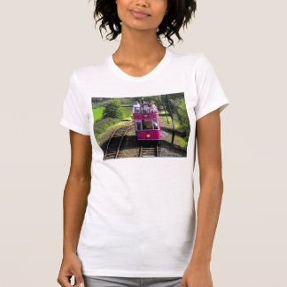 Pink Tram at passsing place T-Shirt