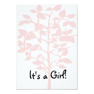 Pink Tree Baby Shower Invitation