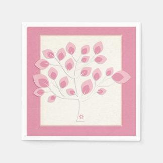 Pink Tree, Bat Mitzvah Paper Napkin