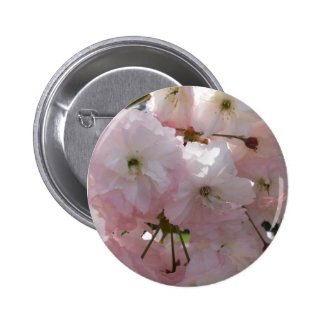 Pink Tree Blossom Button