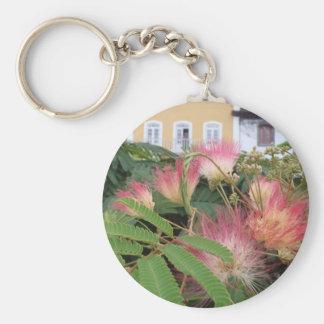 Pink Tree Blossom Keychain
