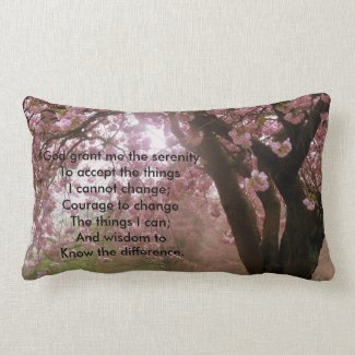 Pink Tree Blossom Serenity Verse Cushion