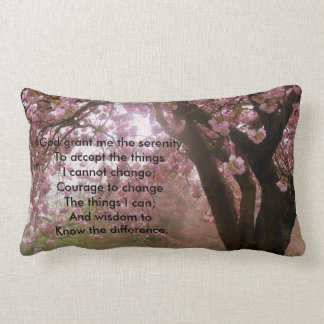 Pink Tree Blossom Serenity Verse Cushion