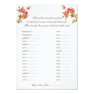 Pink Tree Blossoms Wedding Vows Libs Cards