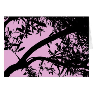 Pink Tree Card