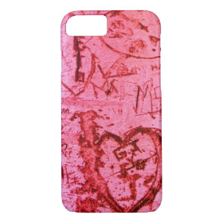 Pink Tree Carvings iPhone 7 Case