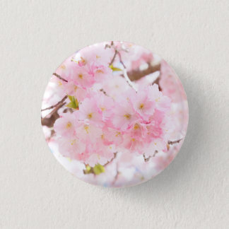 Pink Tree Cherry Blossom Button