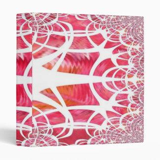 Pink Tree Fractal Art Binder