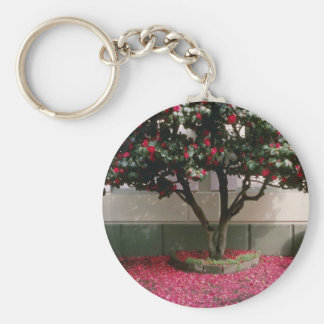 Pink Tree in the town of St. Helier flowers Keychains
