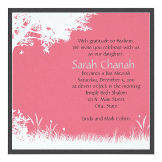 Pink tree Invitation