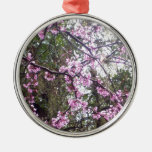 Pink Tree Lace Christmas Ornament