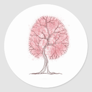 Pink Tree Stickers