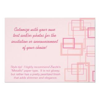 Pink Trendy Squares Invitation