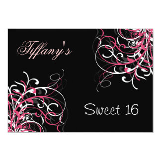 pink trendy Sweet Sixteen party Invitation