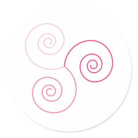 Pink Tri-Color Spiral of Life Sticker