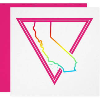 pink triangle california card
