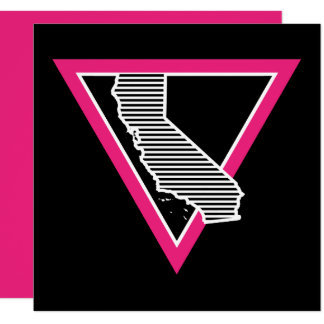 pink triangle california stripes card