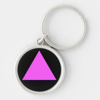 Pink Triangle Keychain