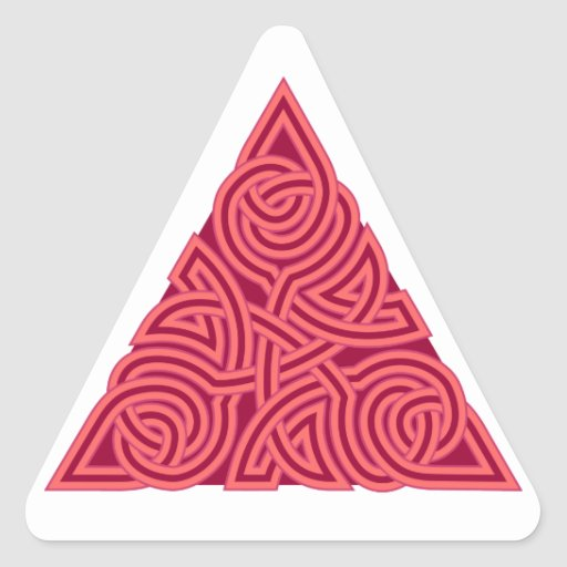 Pink Triangle Knot Sticker