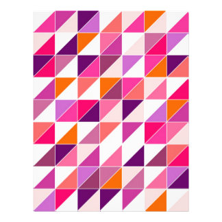Pink triangle mosaic wrapping surface design letterhead