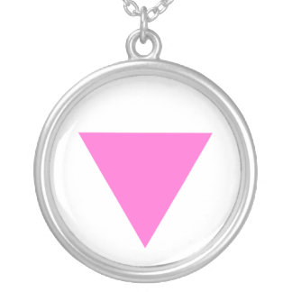 Pink Triangle Pendant