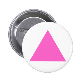 Pink Triangle Pinback Button