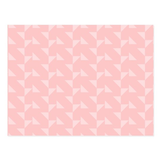 Pink Triangles Abstract Pattern. Postcard
