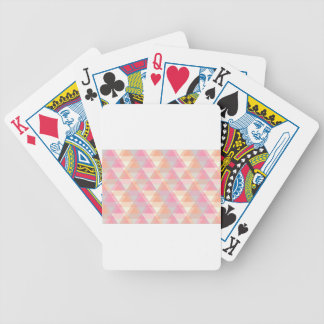 Pink Triangles Bicycle Playing Cards