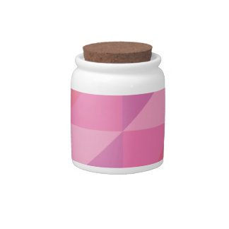 Pink Triangles Candy Jar