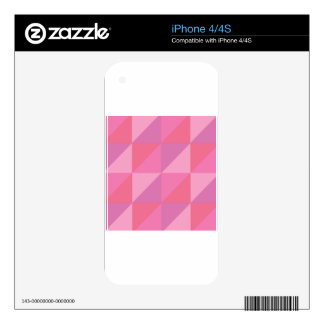 Pink Triangles Decal For The iPhone 4