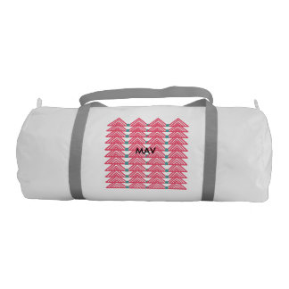 Pink triangles duffle bag