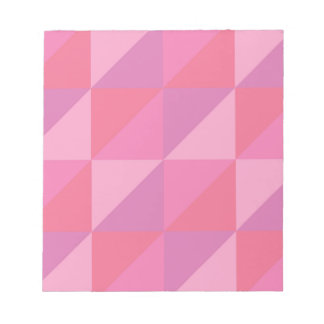 Pink Triangles Notepad
