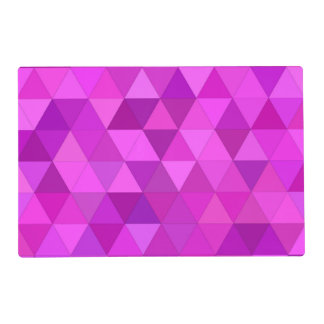 Pink triangles placemat