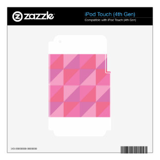 Pink Triangles Skin For iPod Touch 4G
