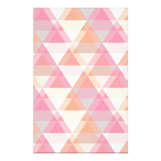 Pink Triangles Stationery