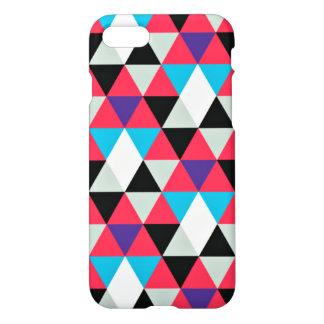 Pink Triangular Geometric Pattern iPhone 7 Case