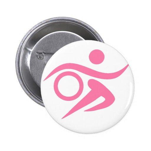 Pink Triathlete 2 Inch Round Button