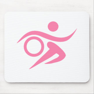 Pink Triathlete Mouse Pad