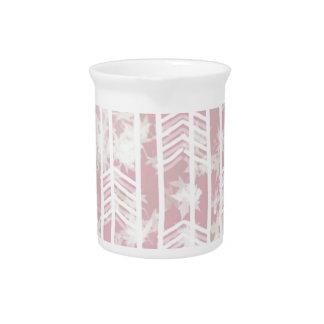 Pink Tribal Leaf Aztec Pattern Drink Pitchers