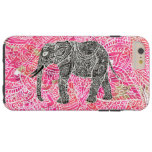 Pink Tribal Paisley Elephant Henna Pattern Tough iPhone 6 Plus Case