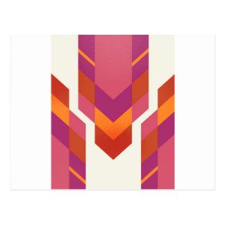 pink tribal postcard