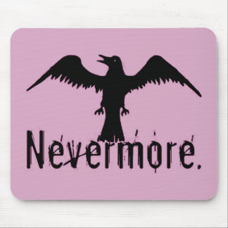 Pink Tribal Raven Nevermore Mouse Pad