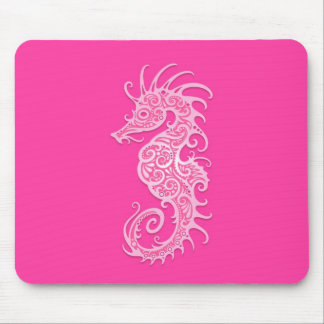 Pink Tribal Seahorse Mouse Pads
