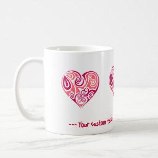 Pink tribal tattoo heart symbol girly love art coffee mug