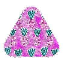 Pink Tribal Watercolor Pineapple Pattern Bluetooth Speaker