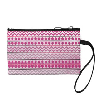Pink Tribal Zigzag Coin Purse