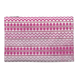 Pink Tribal Zigzag Travel Accessory Bag