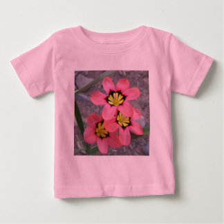 pink tricolored sparaxis flowers baby T-Shirt